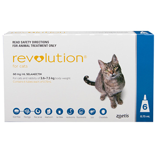 Image for Revolution For Cats 2.6 - 7.5kg Blue - 6 Pack from Amcal