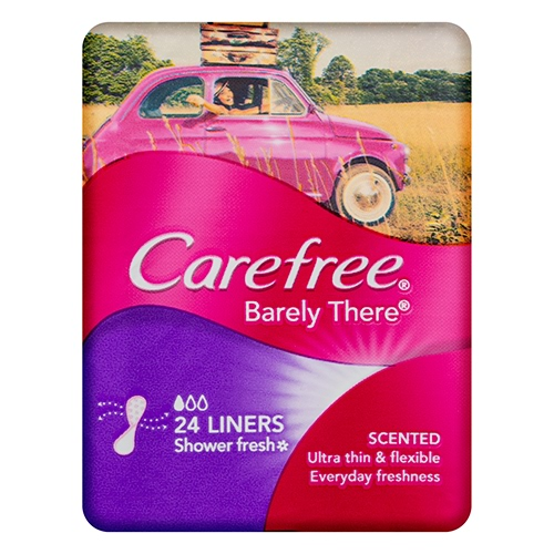 Image for Carefree Liners Barely There Shower Fresh - 24 Pack from Amcal