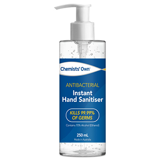 Image for Chemists Own Instant Hand Sanitiser 250mL from Amcal