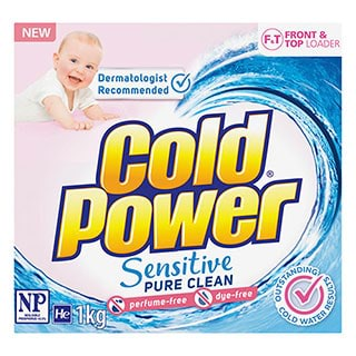 Image for Cold Power Sensitive One Form Laundry Powder - 1kg from Amcal