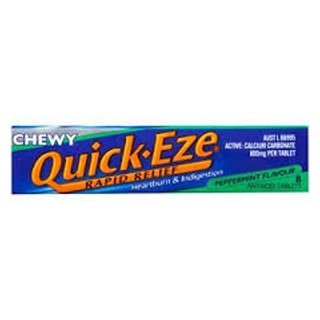 Image for Quick-Eze Peppermint Chew Tabs - 30g from Amcal