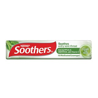 Image for Allens Soothers Eucalyptus and Menthol Flavour - 10 Lozenges from Amcal