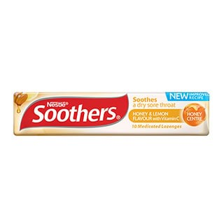 Image for Allens Soothers Honey and Lemon Flavour - 10 Lozenges from Amcal