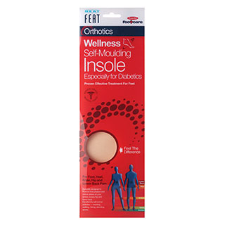 Image for Neat Feat Orthotics Footcare Diabetic Self Moulding Insole - Large from Amcal