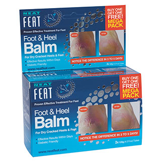 Image for Neat Feat Heel Balm 2 for 1 - 120g from Amcal
