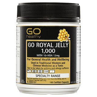 Image for GO Healthy GO Royal Jelly 1,000 with 10-HDA 12mg SoftGel Capsules - 18 from Amcal