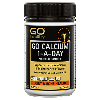 Image for GO Healthy GO Calcium 1-A-Day Natural Source Capsules - 120 Pack from Amcal