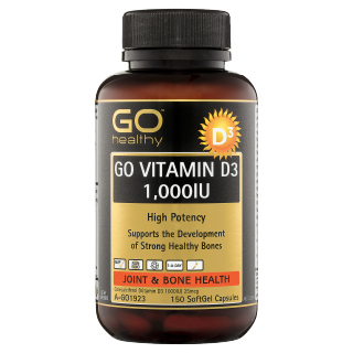 Image for GO Healthy GO Vitamin D3 1000IU SoftGel Capsules - 150 Pack from Amcal