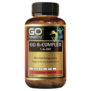 Image for GO Healthy GO B Complex 1-A-Day VegeCapsules - 120 Pack from Amcal