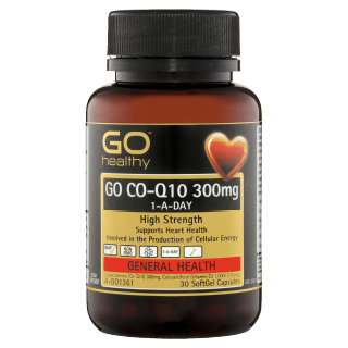 Image for GO Healthy GO Co-Q10 300mg 1-A-Day SoftGel Capsules - 30 Pack from Amcal