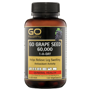 Image for GO Healthy GO Grape Seed 60,000 1-A-Day VegeCapsules - 120 Pack from Amcal