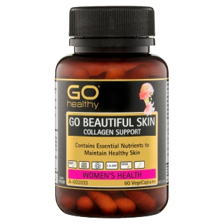 Image for GO Healthy GO Beautiful Skin Collagen Support VegeCapsules - 60 Pack from Amcal