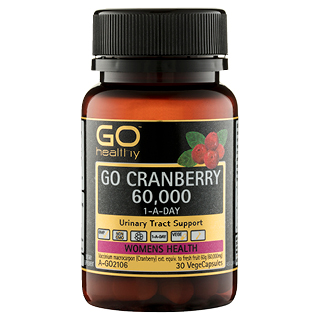 Image for GO Healthy GO Cranberry 60,000 1-A-Day VegeCapsules - 30 Pack from Amcal