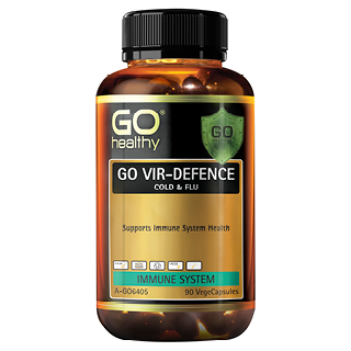 Image for GO Healthy GO Vir-Defence Cold and Flu VegeCapsules - 90 Pack from Amcal