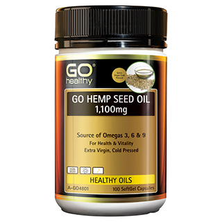 Image for GO Healthy GO Hemp Seed Oil 1,100mg SoftGel Capsules - 100 Pack from Amcal
