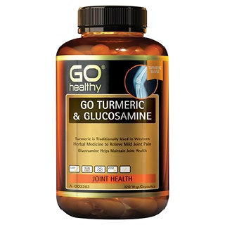 Image for GO Healthy GO Turmeric and Glucosamine VegeCapsules - 120 Pack from Amcal