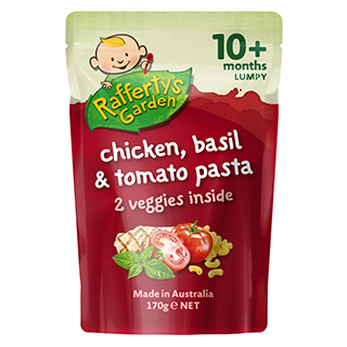 Image for Rafferty's Garden Chicken, Basil & Tomato Pasta 10+ Months - 170g from Amcal